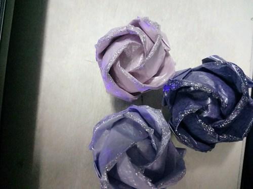 折纸玫瑰花手工艺品